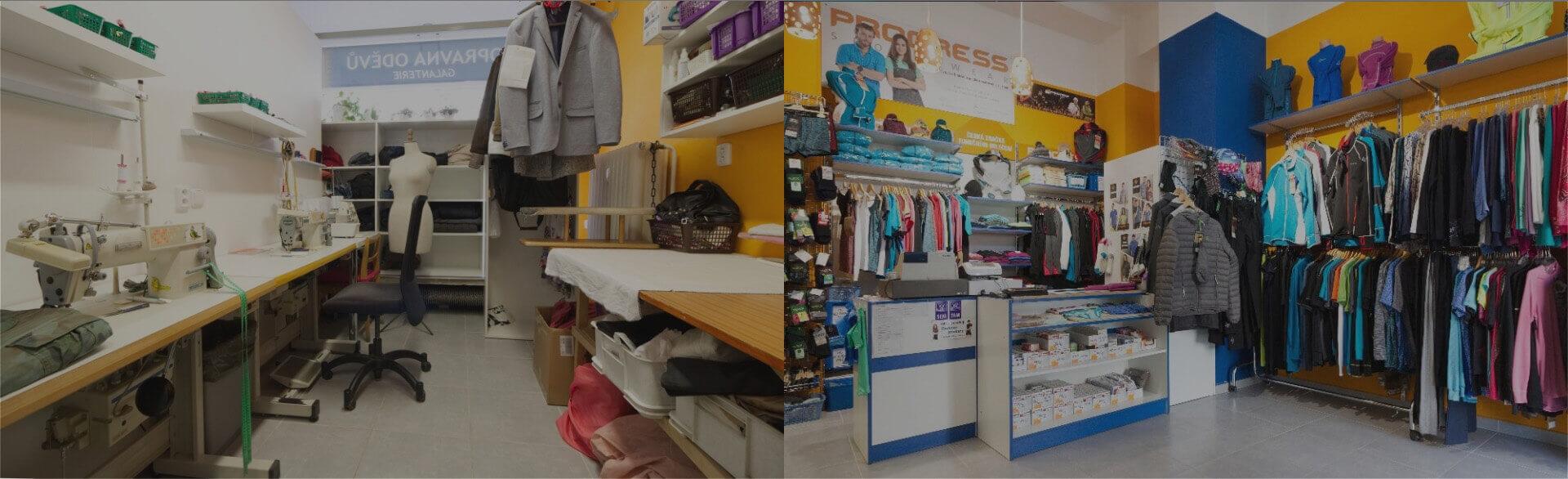 Opravna a prodejna oděvů v Plzni